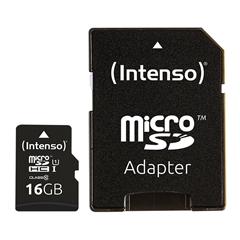 Spominska kartica Intenso microSDXC UHS-I, 16 GB + SD adapter