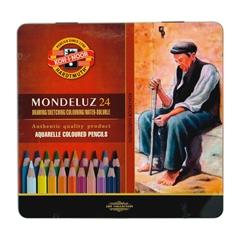 Akvarelne barvice Koh-I-Noor Mondeluz, 24 kosov
