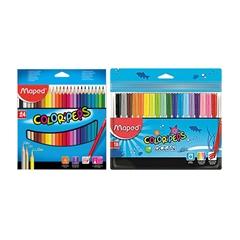 Barvice Maped Color'peps, 24 kosov + flomastri GRATIS, 18 kosov