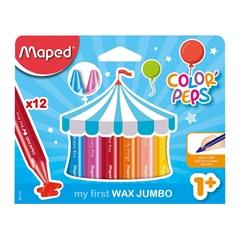 Voščene barvice Maped Jumbo, 12 kosov