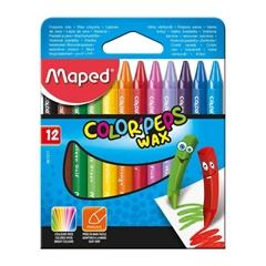 Voščene barvice Maped Wax, 12 kosov