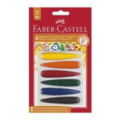 Voščene barvice Faber-Castell 4+, 6 kosov