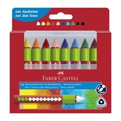 Voščene barvice Faber-Castell, vodotopne, 12 kosov