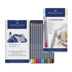 Barvice Faber-Castell Goldfaber Aqua, 12 kosov
