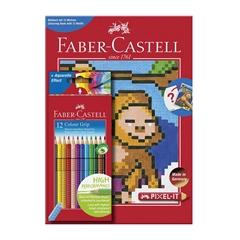 Barvice Faber-Castell Grip, 12 kosov + pobarvanka Pixel