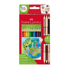 Barvice Faber-Castell Otroci sveta, 12 + 3 kosi