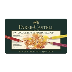 Barvice Faber-Castell Polychromos, 12 kosov