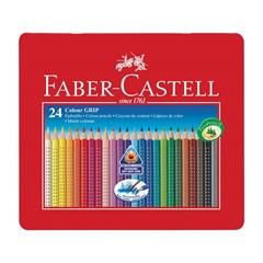 Barvice Faber-Castell Grip, eco, 24 kosov