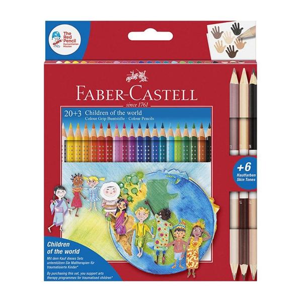 Barvice Faber-Castell Otroci sveta, 20 + 3 kosi