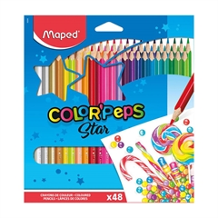 Barvice Maped Color'peps Star, 48 kosov