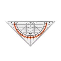 Geotrikotnik Rotring z držalom, 14 cm
