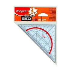 Geotrikotnik Maped Technic z etuijem, 16 cm