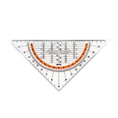 Geotrikotnik Rotring Centro z držalom, 22 cm