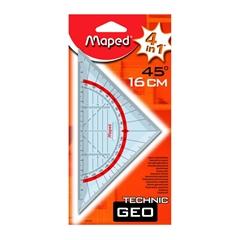 Geotrikotnik Maped Technic z držalom, 16 cm