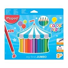 Barvice Maped Color'peps Maxi, 24 kosov