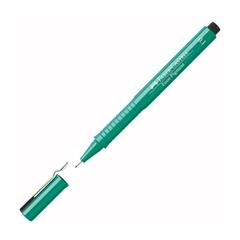 Flomaster Faber-Castell Ecco Pigment, 0.1 mm, zelen