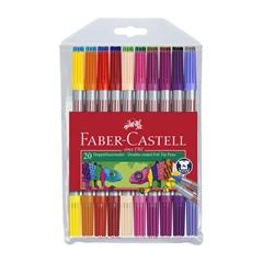 Flomastri Faber-Castell, obojestranski, 20 kosov