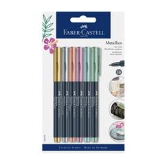 Marker Faber-Castell Metallics, 6 kosov