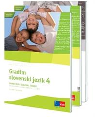 GRADIM SLOVENSKI JEZIK 4, komplet samostojnih delovnih zvezkov za slovenščino-jezik v 4. razredu osnovne šole