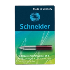Črnilni vložek Schneider 852, rdeč, 5 kosov