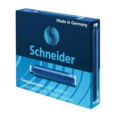 Črnilni vložek Schneider, moder, 6 kosov