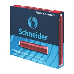Črnilni vložek Schneider, rdeč, 6 kosov