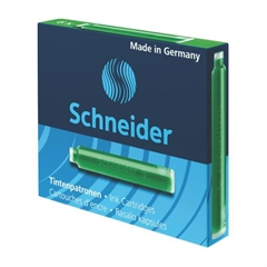 Črnilni vložek Schneider, zelen, 6 kosov