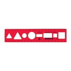 Ravnilo Noma 1, rdeče, 20 cm