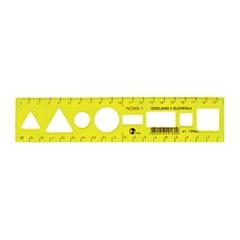 Ravnilo Noma 1 Flex, rumeno, 20 cm