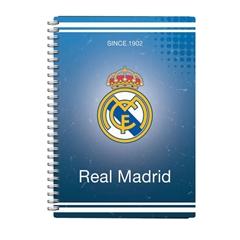 Beležnica Real Madrid PVC s špiralo, A6, 80 listov, črte