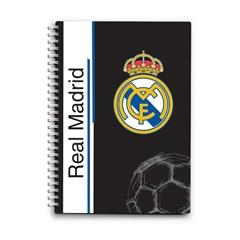 Beležnica Real Madrid s špiralo, A6, 80 listov, črte