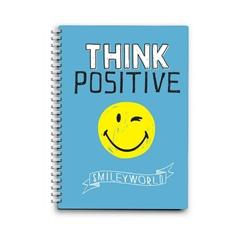 Beležnica Smiley Think Positive s špiralo, A6, 80 listov, črte