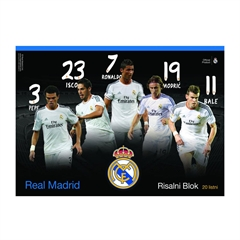 Risalni blok Real Madrid A3, 20 listov, 140 g