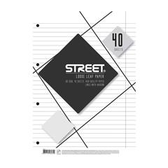 Vložni listi Street A4, 40 listov, črte