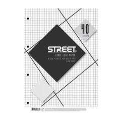 Vložni listi Street A4, 40 listov, mali karo