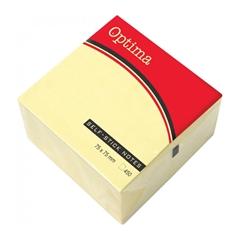 Blok samolepilnih lističev Optima, 75 x 75, 450 listov, pastelno rumen