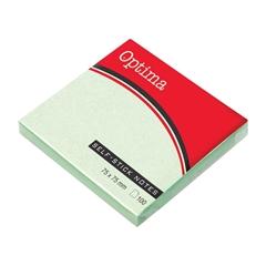 Blok samolepilnih lističev Optima, 75 x 75, 100 listov, pastelno zelen