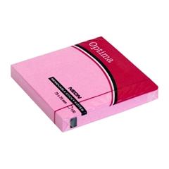 Blok samolepilnih lističev Optima, 75 x 75, 100 listov, neon roza