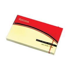 Blok samolepilnih lističev Optima, 125 x 75, 100 listov, rumen