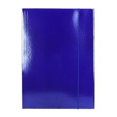 Mapa z elastiko A4 Optima, 30 mm, temno modra