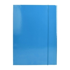 Mapa z elastiko A4 Optima, 30 mm, svetlo modra