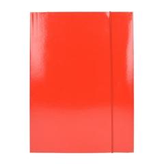 Mapa z elastiko A4 Optima, 30 mm, rdeča