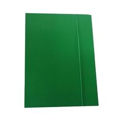 Mapa z elastiko A4 Optima, 30 mm, zelena