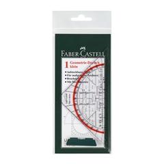 Geotrikotnik Faber-Castell z držalom, 14 cm