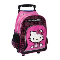 Šolski nahrbtnik na kolesih Trolley Hello Kitty