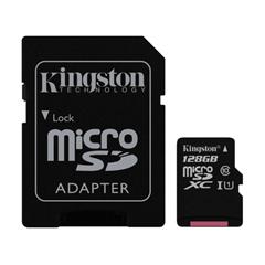 Spominska kartica Kingston micro SDXC, 128 GB + SD Adapter