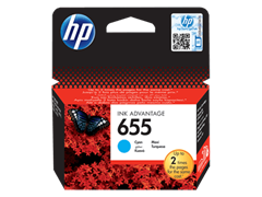Poškodovana embalaža: kartuša HP CZ110AE nr.655 (modra), original
