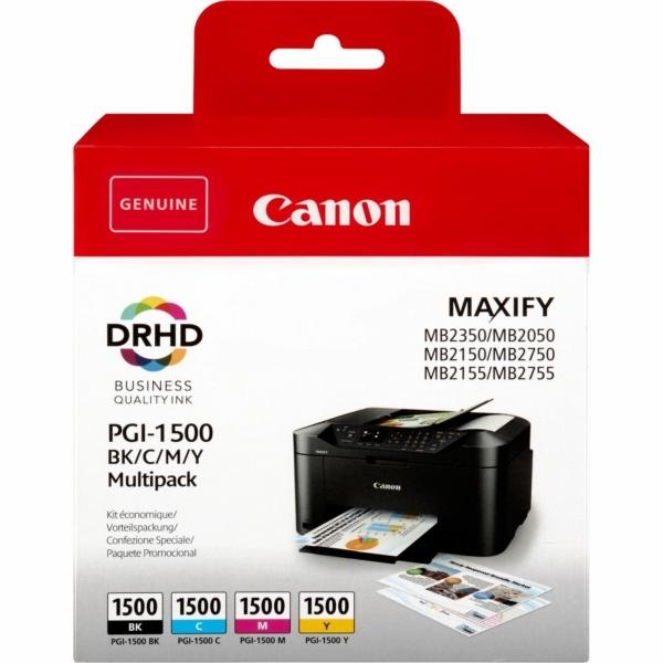 Komplet kartuš Canon PGI-1500 (BK/C/M/Y), original