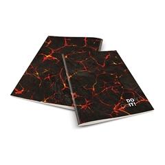 Zvezek A4 Rucksack Only, Don't quit, črno rdeč, karo, 52 listov