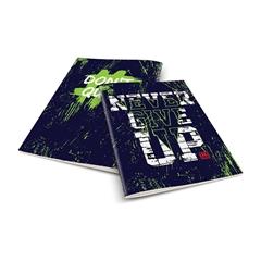 Zvezek A4 Rucksack Only, Never give up 13, trde platnice, karo, 96 listov